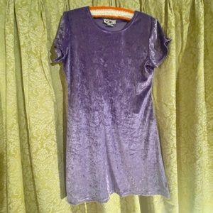 🌈Vintage 90s Y2K baby doll lilac velvet dress